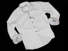 Boy's Sport Shirt 23632 White #boyssuits #boyssuitsdotcom #heritagehouse #goodvibes #robertgraham #white #neat #geometric #houndstooth #tonal #sportshirt #dressshirt #sportsshirt #contrastcuff