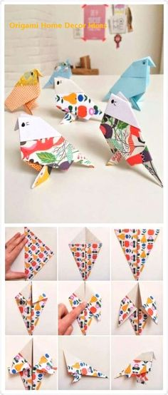 How to get children folding EASY ORIGAMI TULIPS. A great starting origami with only a few steps. Origami is a … Origami Design, Origami Bird Easy, Instruções Origami, Cute Origami, Origami And Kirigami, Origami Ball, Origami Butterfly, Paper Crafts Origami, Origami Birds