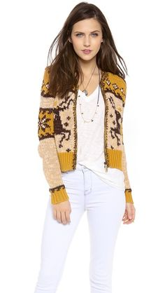 Free People Rudolph Cardigan at Shopbop, this looks so cute!