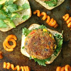 Skip the sketchy processed burgers and whip up these healthy veggie burgers at home! They're freezer friendly and positively delicious!