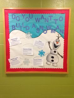 Disney Frozen Bulletin Board