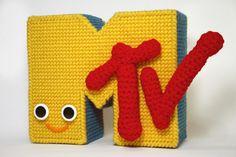 Plastic canvas + crochet + MTV = Win. (Especially for @SisterDiane.)