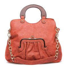 Cute purse with built in front change pocket.