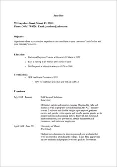 a sample resume template - Resume Template Samples