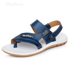 awesome Cut Out Leather Thong Men's  Sandals