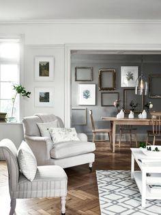 Wohnzimmer Frühlingskollektion #stuhl #couchtisch #wandfarbe #teppich  #esstisch #bilderrahmen #sessel