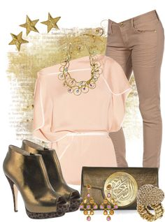"""""""Bronze & Nude"""" by anna-campos ❤ liked on Polyvore"""