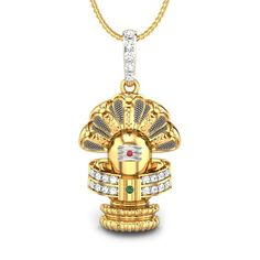 Attach yourself with the purity and divinity of Lord Shiva with this aniconic form of lingam with the five headed snake which depicts his yogic power. Ganesh Pendant, Om Pendant, Gold Locket, Gold Necklace, Gold Chains For Men, Diamond Pendant, Gold Pendent, Jewellery Storage, Necklace Designs