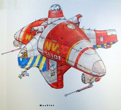 Moebius concept art for The Fifth Element