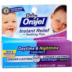 Baby Orajel Daytime & Nighttime Fast Teething Pain Relief 0.36 oz