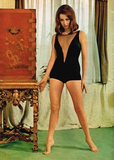 Claudine Auger. One of the best Bond Girls. A variation on the greatest swimsuit ever.