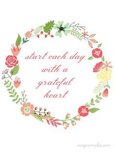 Start Each Day with a Grateful Heart Printable is FREE and looks fabulous in any style home. It is a great reminder to be grateful and enjoy what we have.