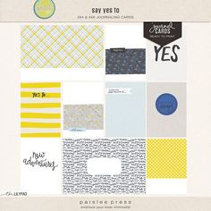 say yes to journaling cards by paislee press