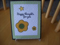 Handmade Greeting Card  Happy Thoughts for by janzcardsandgifts