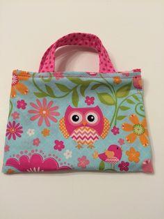 Orange Owls Pink Polka Dots - Toddler Tote, $15.00
