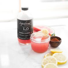 Refreshing Bottle Rocket from Liquidology Bar. Photo by~ Stephanie Rudy Watermelon And Lemon, Cold Pressed Juice, Juice Recipes, Drink Bottles, Bar, Drinks, Food, Drinking, Beverages