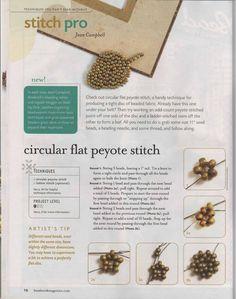 Circular flat Peyote - 1/2 - Beading Peyote stitch tutorial