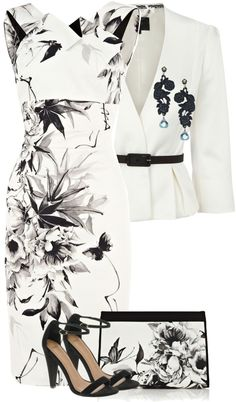 """Floral in Black"" by glinwen on Polyvore"