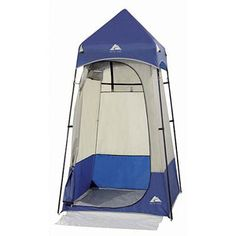 Ozark Trail Shower Utility Tent- this is soooo wonderful to use as a shower room/changing room. Also nice for a bathroom with a large bucket when you just don't feel like going behind a tree all the time.