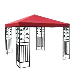 Red Single Tier Patio Sun Shade 10x10 Ft Garden Canopy Gazebo Replacement Top . $69.99. Zippered Ventilated Top with Mosquito Netting between Top and Lower Tier. Grommets to Ensure Proper Water Drainage. Velcro Attaching Tabs for Conveniently Fixing onto the Frames. PA Coating for Effective Harmful UV Blocking and Waterproof Performance. Reinforced Corners to Stand Years of Use. Brand New 10'x10' Single-Tier Replacement Canopy Top! Perfect to Make Your Gazebo Shiny and...