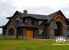 #Luxury living in #Calgary AB - Cut Fieldstone (Color: Quarry) Beautiful custom home with masonry work by Creative Stone