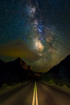Milky Way over Zion's Mount Carmel Highway, Zion National Park, Utah