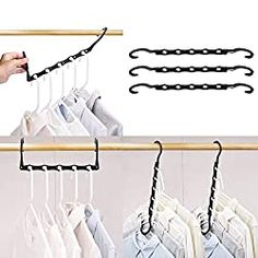 HOUSE DAY Black Magic Hangers Space Saving Clothes Hangers Organizer Smart Closet Space Saver Pack of 10 [gallery] Make sure this fits by entering your model number. Cool Dorm Rooms, College Dorm Rooms, Closet Space Savers, Best Closet Organization, Organization Ideas, Organization Station, Bedroom Organization, Storage Ideas, Smart Closet