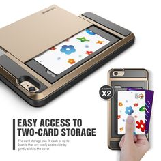 "Amazon.com: iPhone 6 Plus Case, Verus [Card Slot Case] iPhone 6 Plus 5.5"" Case [Damda Slide][Champagne Gold] Slim Fit Dual Layer Protective Card Slot Case - Verizon, AT&T, Sprint, T-Mobile, International, and Unlocked - Case for Apple iPhone 6 Plus 5.5 Inch Late 2014 Model: USA Designed by Verus Design Lab in California: Cell Phones & Accessories"