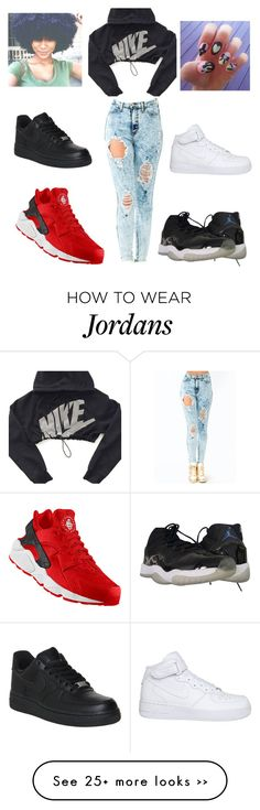 """""""Nike"""" by chynaloggins on Polyvore featuring NIKE"""
