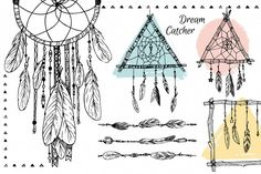 Feathers & Dream Catchers clipart example image 3