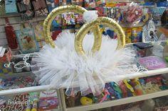 Мастер-класс, Поделка, изделие: Кольца на авто своими руками, МК Материал оберточный Свадьба. Фото 23