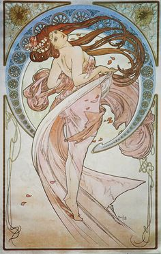 La danse,1898 by Alphonse Mucha [more]