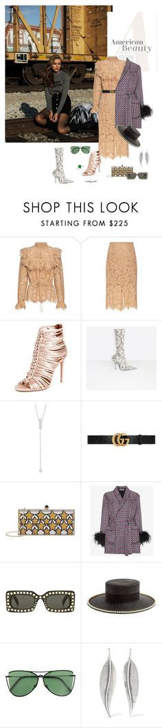 """The moment..."" by katelyn999 ❤ liked on Polyvore featuring Hansen, Ganni, Aquazzura, Balenciaga, Anne Sisteron, Gucci, Judith Leiber, Prada, Sener Besim and Sophie Buhai"