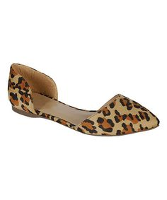 Another great find on #zulily! Leopard Dolley D'Orsay Flat #zulilyfinds