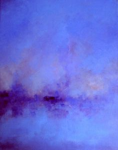 Silent night - original oil painting , abstract such a vibrant blue-purple! Oil Painting Abstract, Abstract Watercolor, Abstract Landscape, Acrylic Paintings, Landscape Paintings, Purple Painting, Art Paintings, Art Bleu, Contemporary Abstract Art