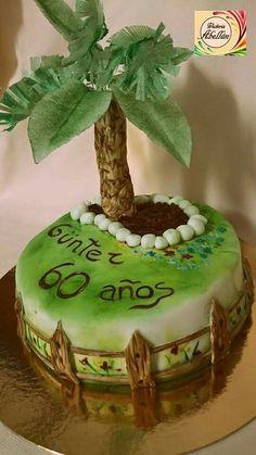 Tarta palmera de oblea Birthday Cake, Desserts, Food, Wafer Paper, Pies, Tailgate Desserts, Birthday Cakes, Deserts, Meals
