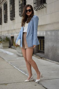 baby blue blazer | Out & About