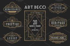 20 ArtDeco Badges & Frames by Raftel on @creativemarket