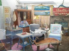 Loving everything in this booth, why am I not at this flea market?