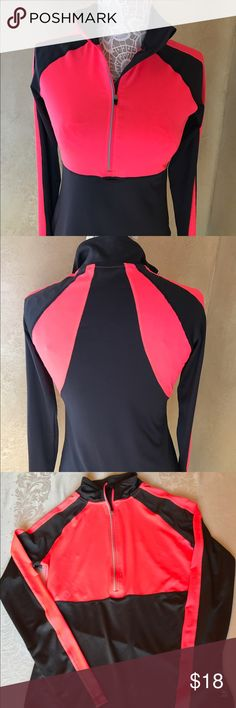 Ladies quarter zip pullover, active wear This ladies quarter zip pullover by RBX is a great addition to your activewear wardrobe.  Vibrant color in a slimming pattern and fit. Size Medium but fits more like a Small. Tops Sweatshirts & Hoodies