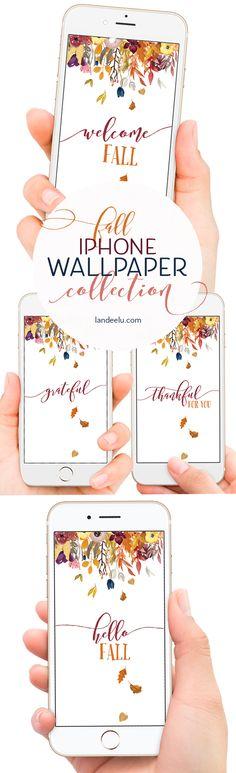 "Beautiful Fall iPhone wallpaper to help ""fall-ify"" your phone! #falliphonewallpaper #iphonewallpaper"