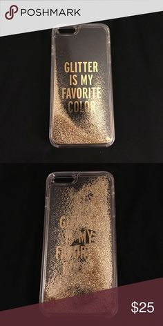 Kate Spade Glitter Is My Favorite Color phone case for iPhone. Glitter moves around in the case.