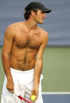 Federer... He should try this look on ALL courts!
