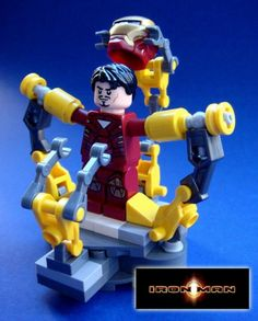 Iron Man LEGO toy for desk, table, or shelf