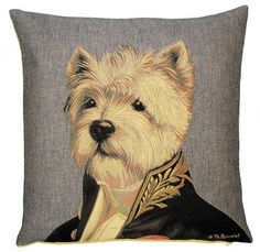 "OTTERHOUND ARISTODOGS 18/"" TAPESTRY CUSHION COVER"