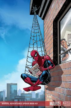 spiderman...checking out the news
