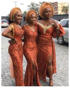 African Print Wedding Dress, African Wedding Attire, African Attire, Nigerian Lace Dress, Nigerian Dress Styles, Nigerian Outfits, Pakistani Dresses, Nigerian Fashion, Nigerian Wedding Dresses Traditional