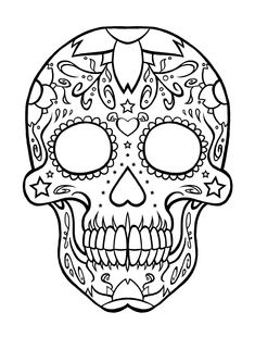 Coloring Page Skull Sugar Mexican Candy | candy skulls Colouring Pages (page 2)