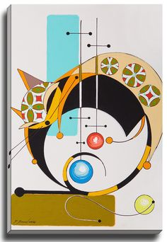 Cat O by Dominic Bourbeau Graphic Art on Wrapped Canvas