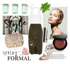 """Spring Formal"" by laurenleigh-bee on Polyvore featuring Kilner, Topshop, Lipsy, Cameo, Bobbi Brown Cosmetics and Jimmy Choo"
